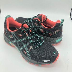 ASICS Gel Venture 5 Charcoal Peach Sneakers 8